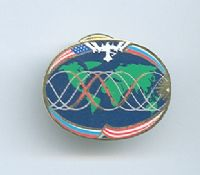 Expedition 15 ISS International Space Station Mission Lapel Pin Official NASA